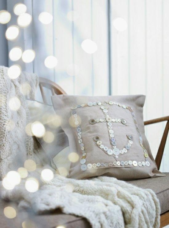 maritime Deko Kissen selber machen Wohnzimmer Sofa Nähen - wohnzimmer deko selbst gemacht