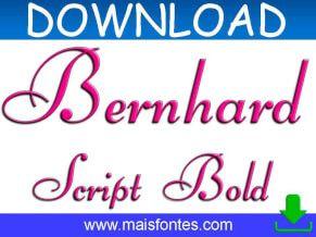 Font Bernhard Script Bold Free Download Fontes Gratis Fontes