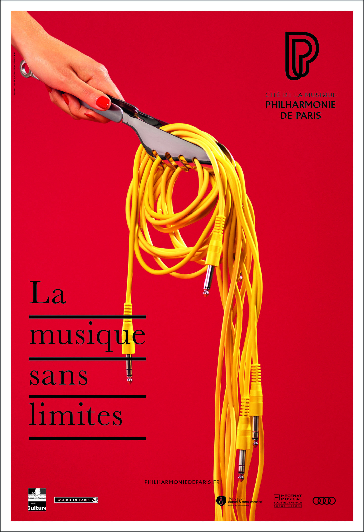 La Philharmonie De Paris Et Betc Dévoilent Une Campagne Dévorante Philharmonie De Paris Design D Affiches Design De Communication