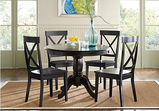 Picture Of Brynwood Black 5 Pc Pedestal Dining Set From Room Sets Furniture