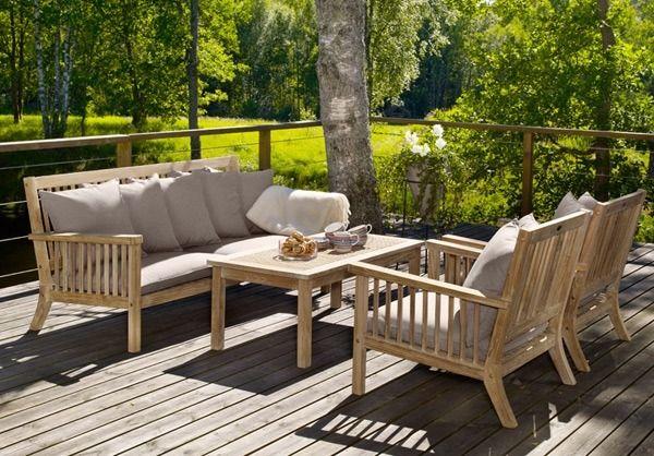 Fantastisk havemøbler i teak træ | Have in 2019 | Outdoor furniture sets RS43