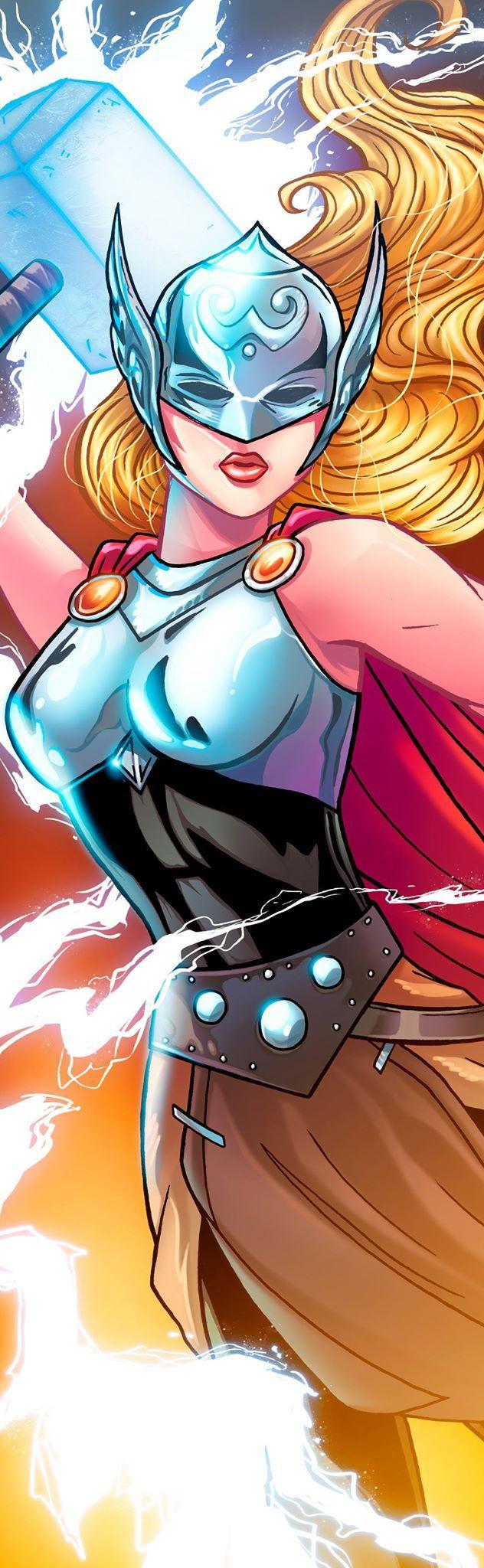Thor Jane Foster Panel Art By Richbernatovech On Deviantart Marvel Comics Art Female Thor Marvel Comic Character
