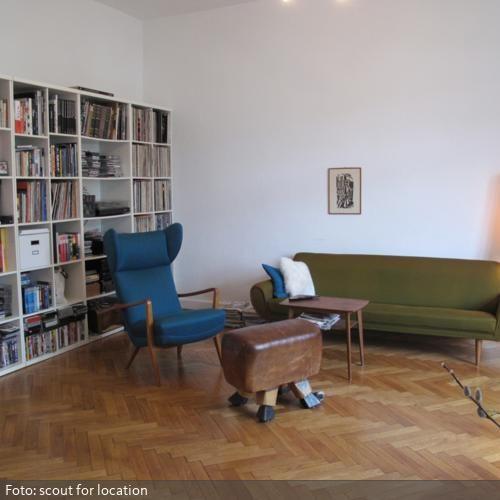 Sprung-Bock-Hocker im Wohnzimmer Wohnzimmer Pinterest