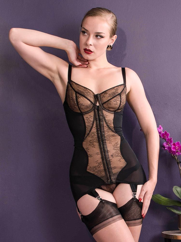 d0212c9109b Body Briefer | Lace Firm Control Body Briefer - Combining serious body  shaping with vintage glamour, our Veronika Body Briefer is made from  corsetry ...