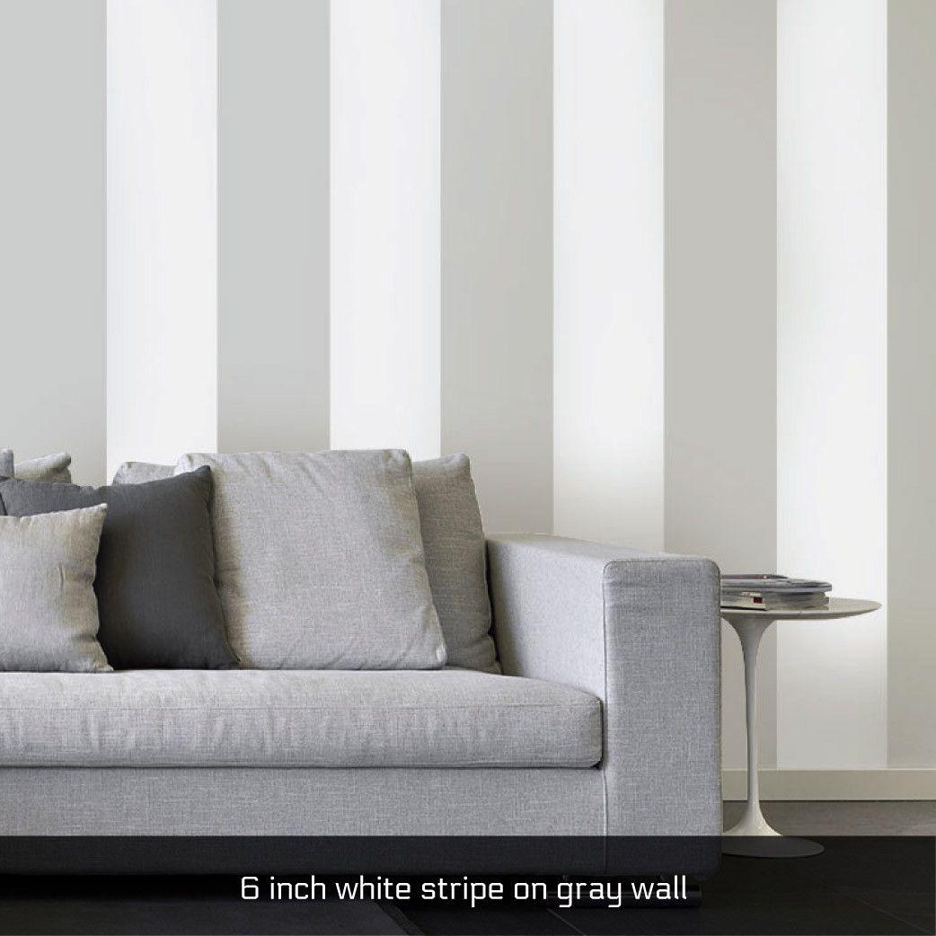 4 Inch Black Stripe Easy Stripe Wall Decals In Multiple