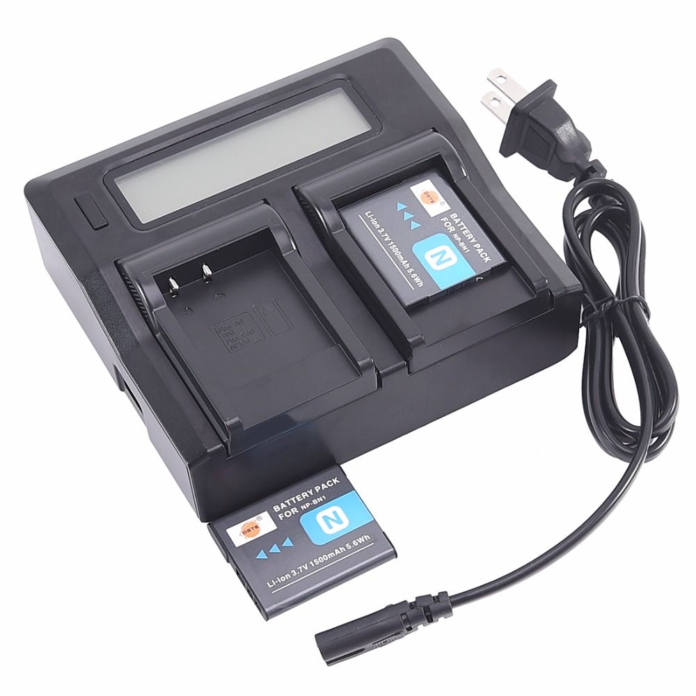 Dste 15a Dual Charger With 2x Li Ion Np Bn1 Batteries For Sony Dsc Battery