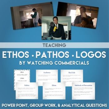 Teaching Ethos, Pathos, and Logos with Commercials   High
