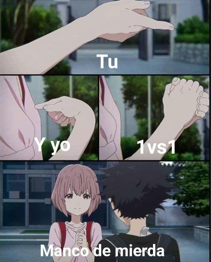 Pin De Monica Gonzalez En Memes Chinos Con Tumblr A Silent Voice A Silent Voice Anime Memes De Anime