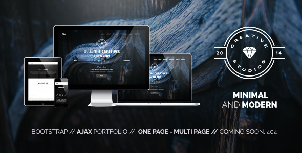 Hero - Bold Multipurpose WordPress Theme Hero – Retina Parallax WordPress Theme is a multipurpose WP Theme that can be used by a creative agency or as a personal portfolio for a freelancer. It's a fully responsive one/multi paged template built on Bootstrap 3 Framework.