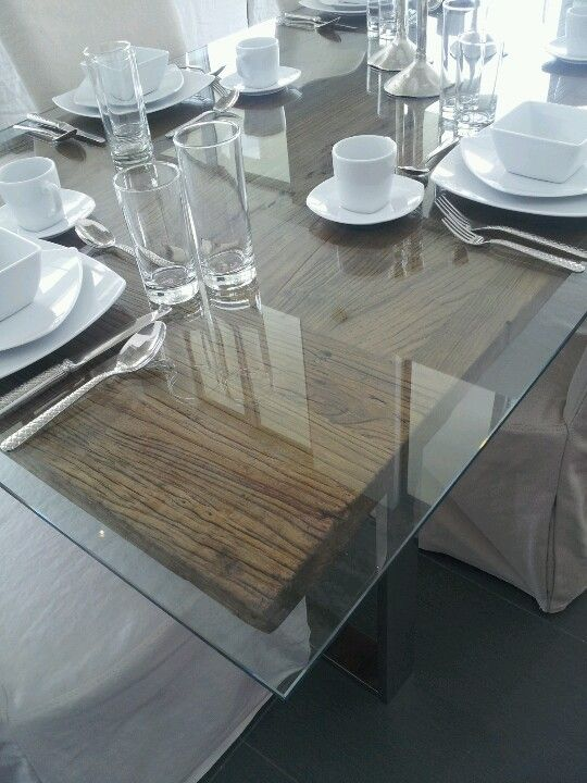 Wood And Glass Dining Table Things For The Home Pinterest - Glass or wood dining table