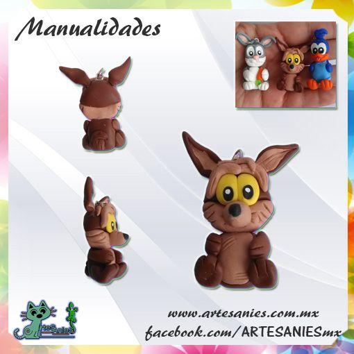 Artesanies #clay #coyote #WB #polymer #manualidades www.artesanies.com.mx