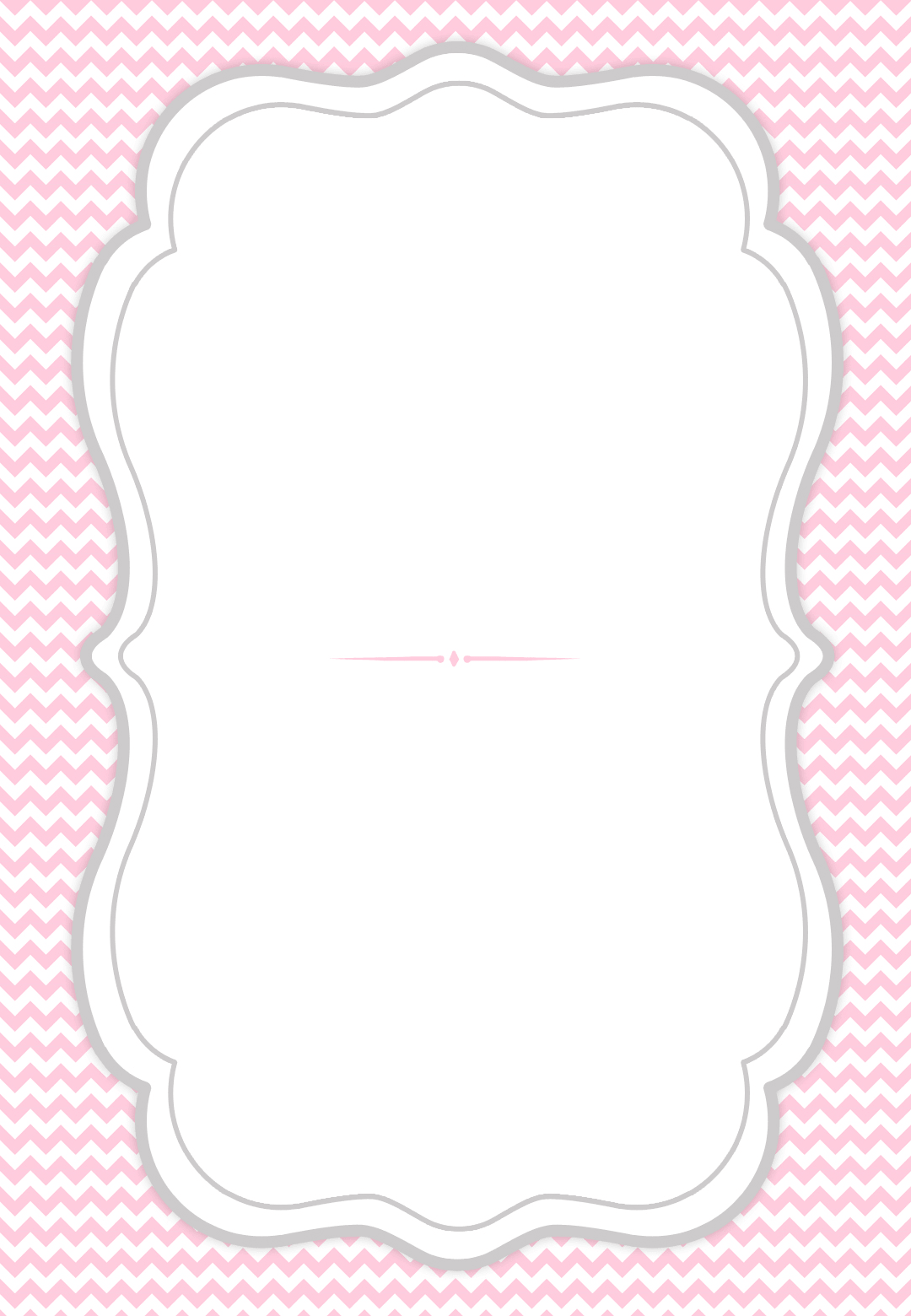 french curve frame free printable party invitation template