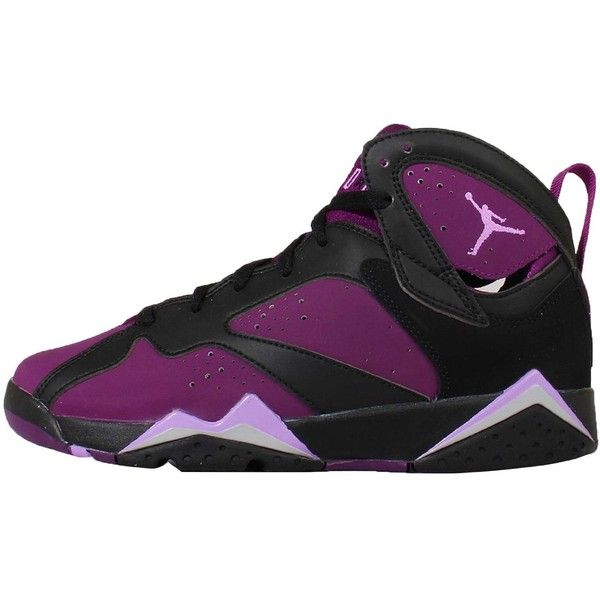 0aeb8d08cb2173 Air Jordan 7 Gs Mulberry Black Fuchsia Glow 442960-009 ( 124) ❤ liked on Polyvore  featuring shoes