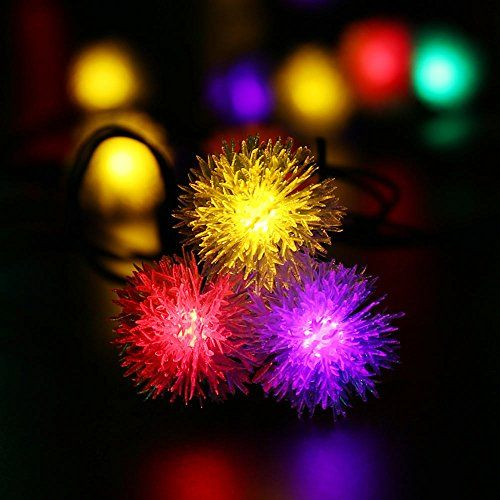 $15.99 [Upgraded 50LEDs]LuckLED Chuzzle Ball Solar String Lights, 23ft LED  Christmas Lights - $15.99 [Upgraded 50LEDs]LuckLED Chuzzle Ball Solar String Lights