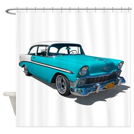 56 Chevy Bel Air Shower Curtain