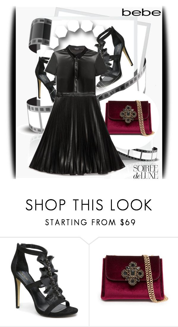 """Soirée de Luxe with bebe Holiday: Contest Entry"" by lina-essence ❤ liked on Polyvore featuring Bebe"