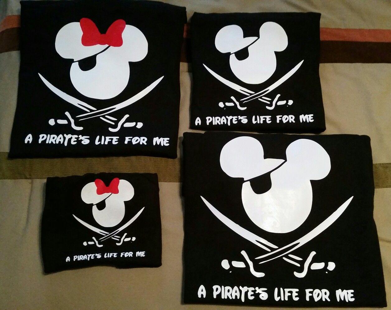 78422da4 Matching Family Disney Cruise Pirate Shirts using HTV Vinyl.   Made ...