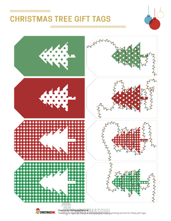 Free printable gift tags that feature christmas trees in a green free printable gift tags that feature christmas trees in a green white and red negle Choice Image