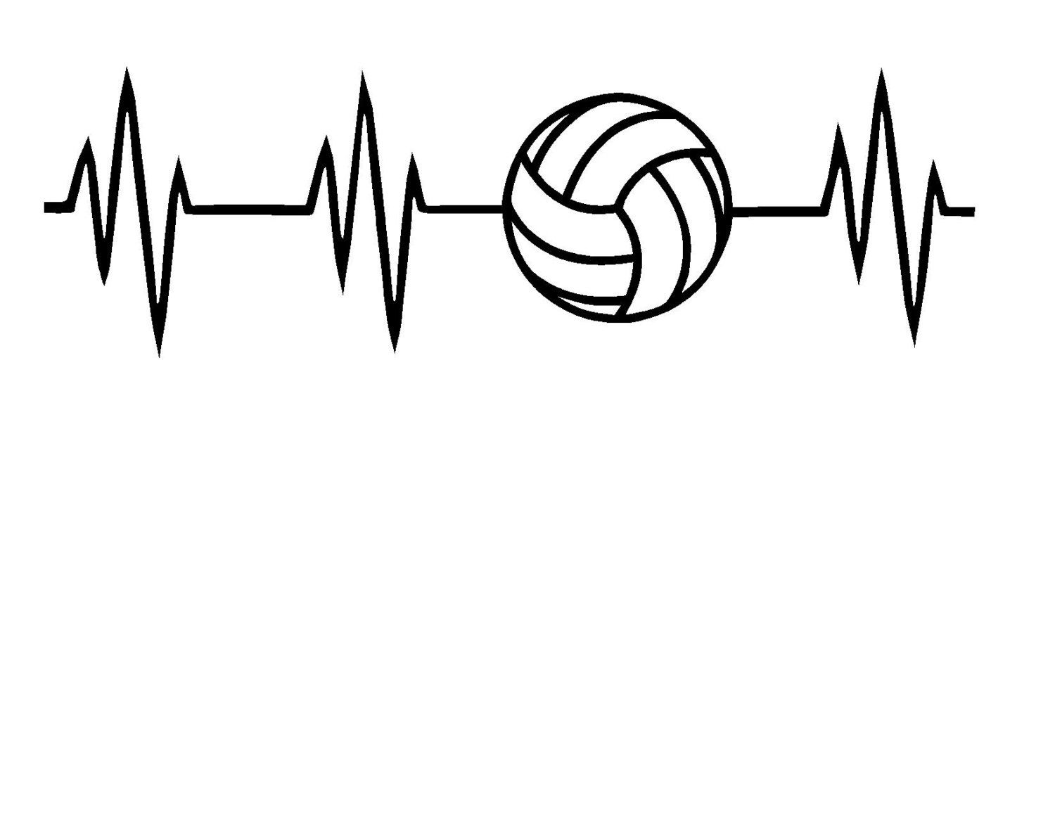 Volleyball Heartbeat Svg Or Silhouette Instant Download Volleyball Drawing Volleyball Wallpaper Volleyball Shirt Designs