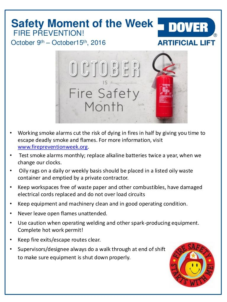 Fire Prevention! Alberta Oil Tool's Safety Moment of the