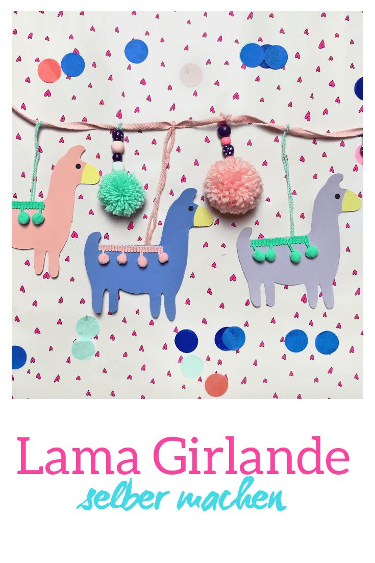DIY Lama Girlande Deko für das Kinderzimmer selber