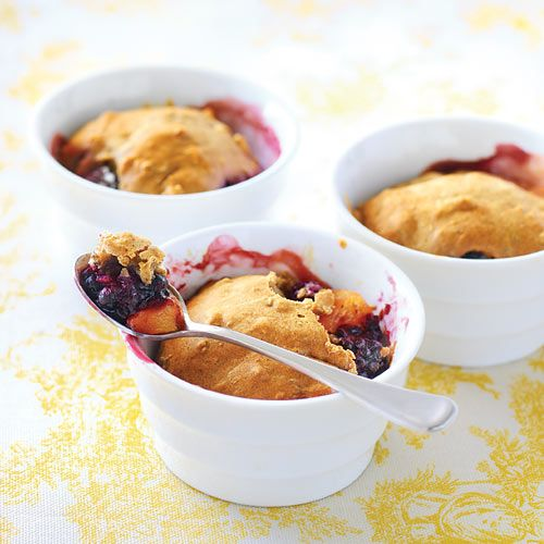 Peach & Blackberry Cobbler at 130 calories a serving