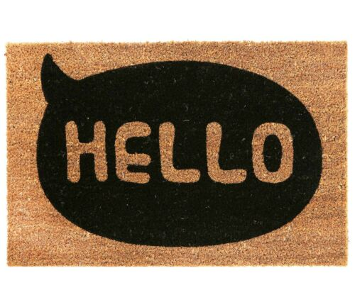 Natural Coir Welcome Floor Entrance Non Slip Door Mat Indoor Outdoor Doormats Ebay Door Mat Hello Doormat Coir