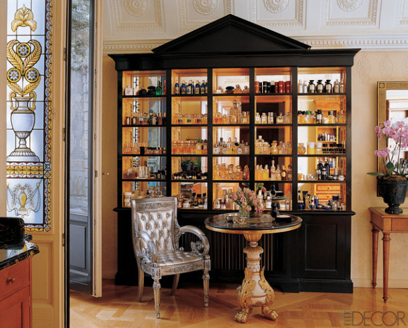 A classic and traditional perfume display cabinet   Inspiration ...