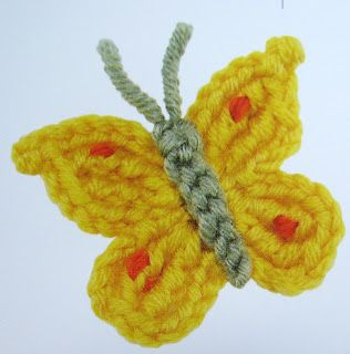 Vlinder Met Patroon Haken Pinterest Haken Vlinders En Breien