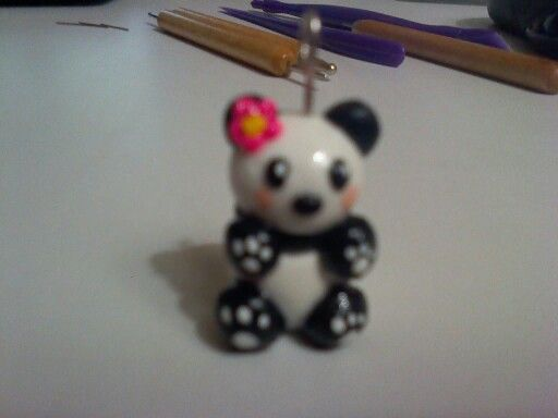 Cutest panda ever made with polymer clay by Craftybubbles!!