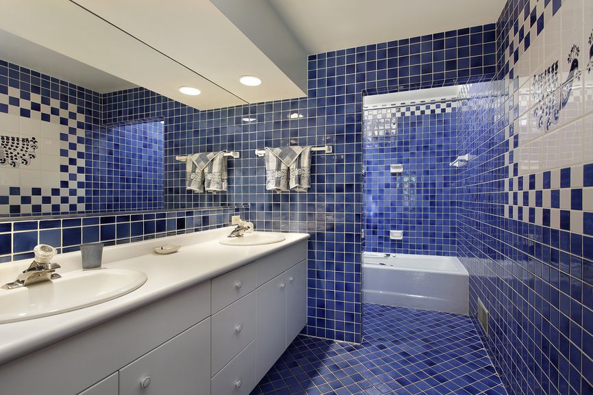 750 Custom Master Bathroom Design Ideas for 2018 | Blue tiles ...