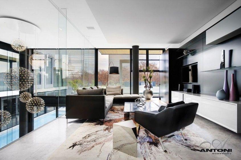Modern Guest Room In Modern Mansion Modern Houses Interior