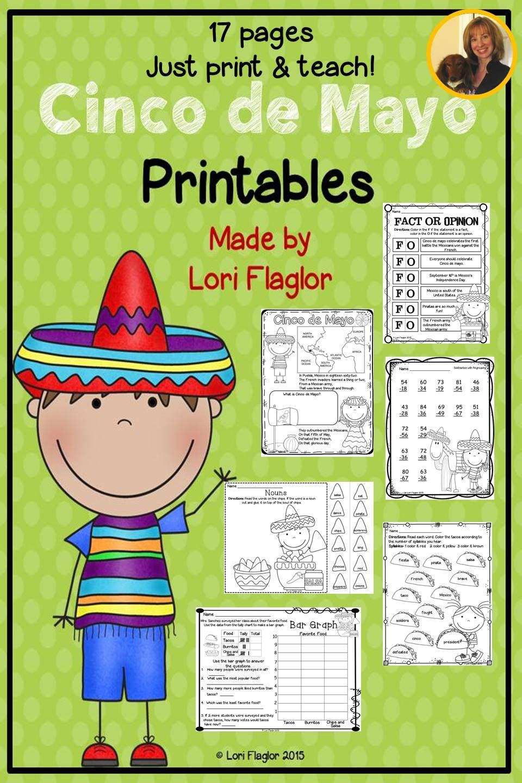 Cinco De Mayo Printables Fun Facts For Kids Teaching Holidays Fun Math [ 1440 x 960 Pixel ]