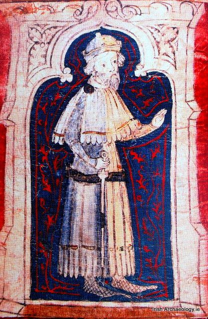 John Darcy. The Great Charter Roll, Waterford, Ireland. 1372.