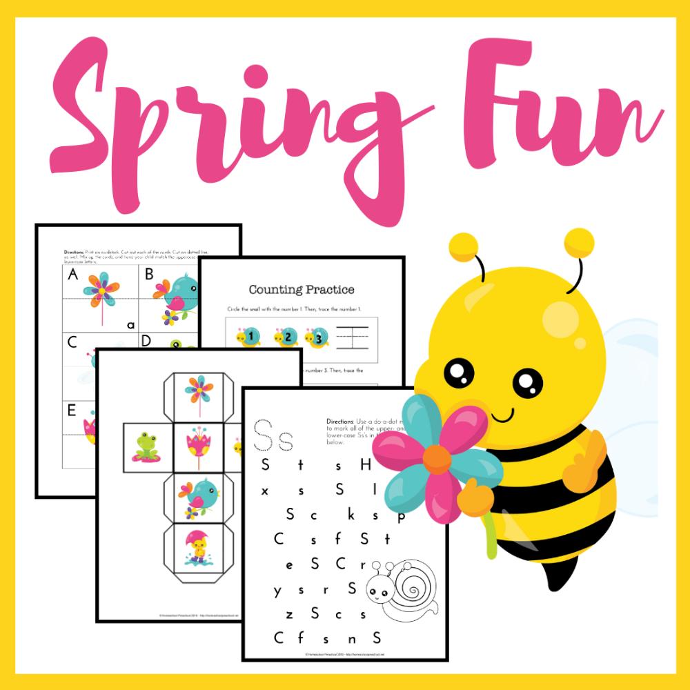 Free Spring Printables For Preschool Spring Printables Free Spring Preschool Spring Printables [ 1000 x 1000 Pixel ]