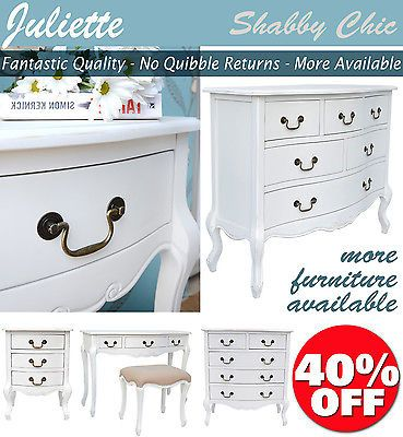Juliette SHABBY CHIC Bedroom Furniture Chest Bedside Tables Dressing Tables https://t.co/T2MjseLK1e https://t.co/wCPtC54qhR