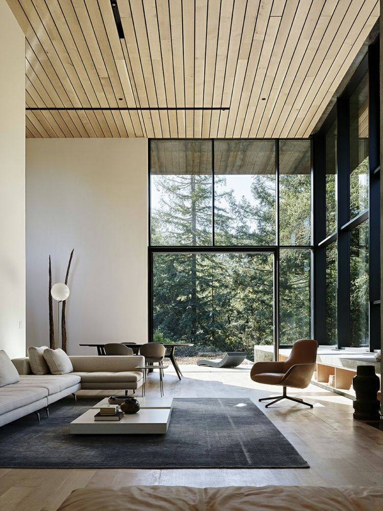 Die einzigartige Fassade aus verwittertem Stahl macht dieses Haus aus!