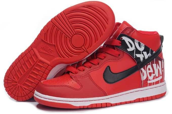 new arrival a5d1c f963e 1767   Nike Dunk High Herr Svart Röd Vit SE543525joivfmmsz