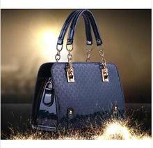 2014 nový prírastok jeseň zima hot sexy kabelka farebný PU patent kabelka Messager dvojaký účel podnikania kožená taška WB18 (Čína (pevninská časť))