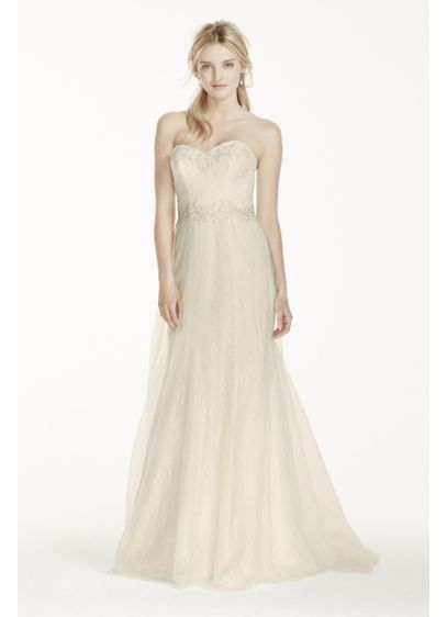 c07c114f7785 Long Sheath Formal Wedding Dress - David's Bridal Collection ...