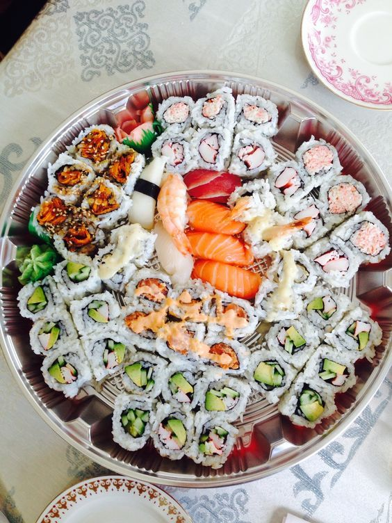 20 Sweet Wedding Sushi Bar And Station Ideas Food Goals Food Love Food Check out our sushi platter selection for the very best in unique or custom, handmade pieces from our trays & platters shops. www pinterest co kr