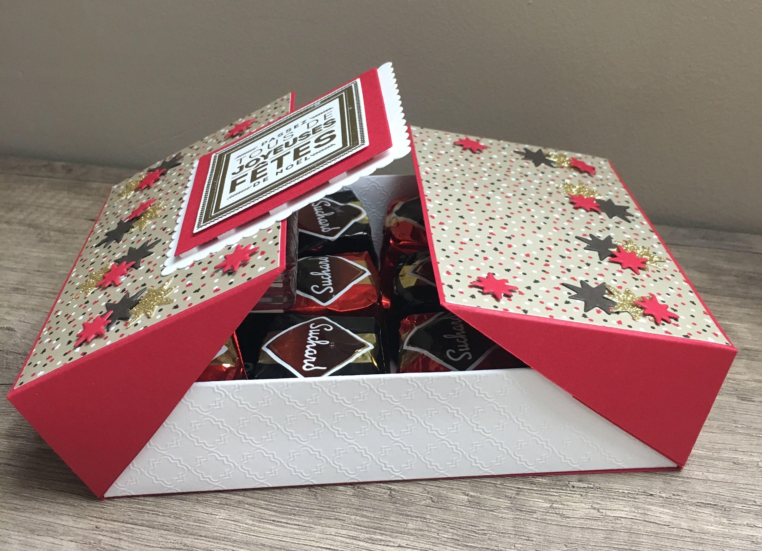 Une boite chocolats scrap with steph tuto scrap for Ou acheter une boite a couture