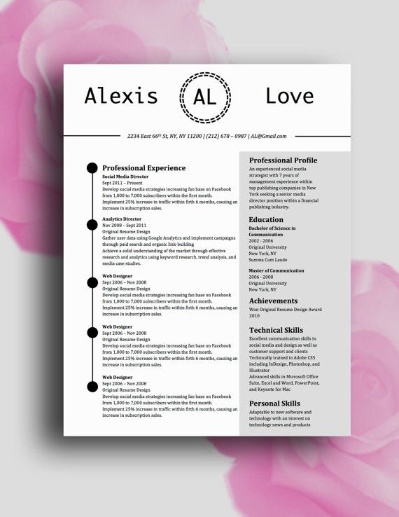 Pin On Alexis Love Resume Template