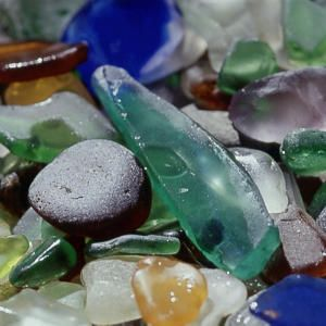 Hidden Gems on Glass Beach we picked up so much of this fabulous sea glass from this beach when we were kids!