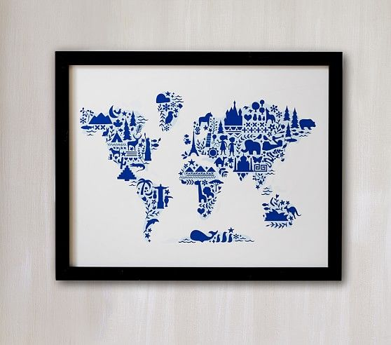 Little Big World Map Wall Art By Minted Pottery Barn And Walls - Little big world map