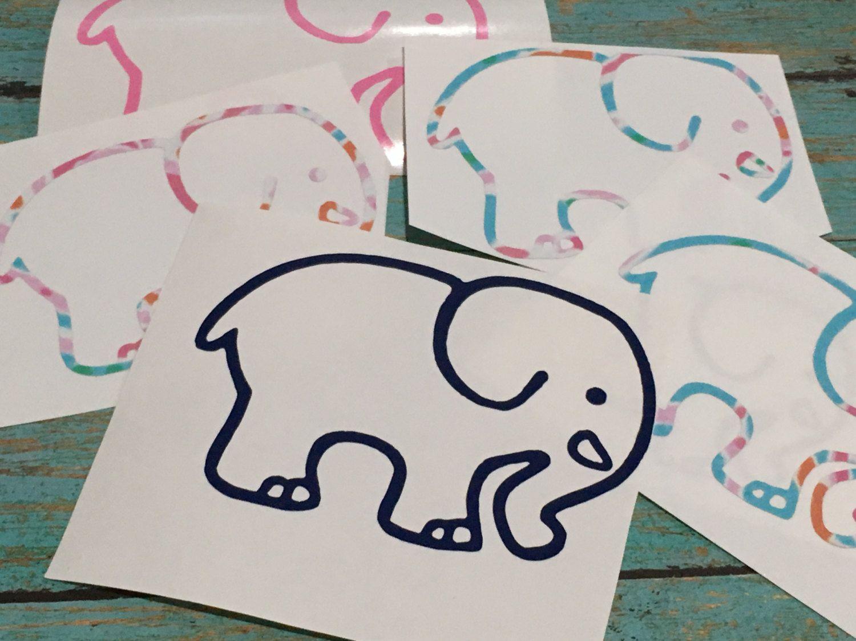 Ivory Ella Inspired Elephant Preppy Lilly Pulitzer Ivory