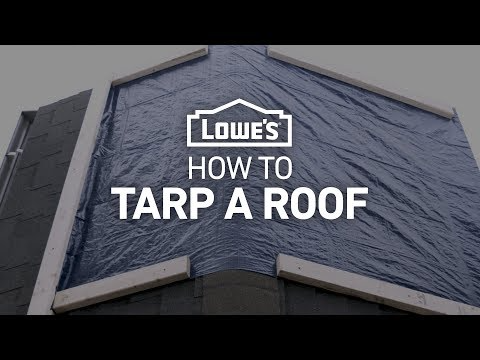 How To Tarp A Roof Severe Weather Guide Youtube Roof Roof Problems Severe Weather