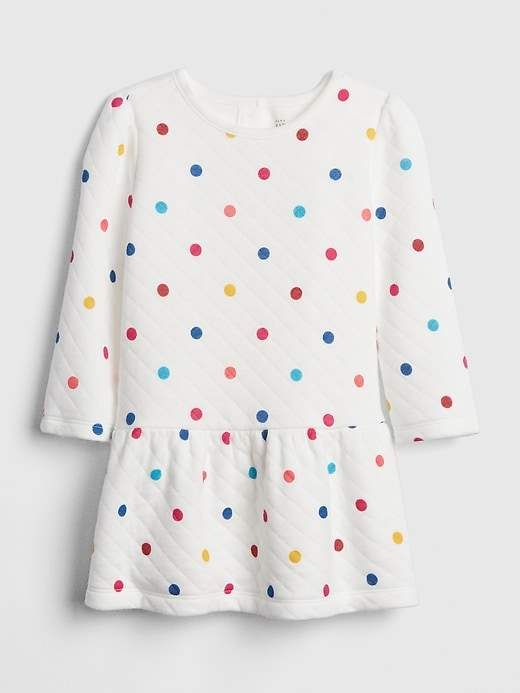 5570bc222 Gap Babies' Baby Quilted Dot Dress Ivory Frost in 2019 | New Baby ...