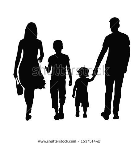 Image Result For Silhouettes Mom Dad 2 Sons Silhouette Art Silhouette Children Holding Hands