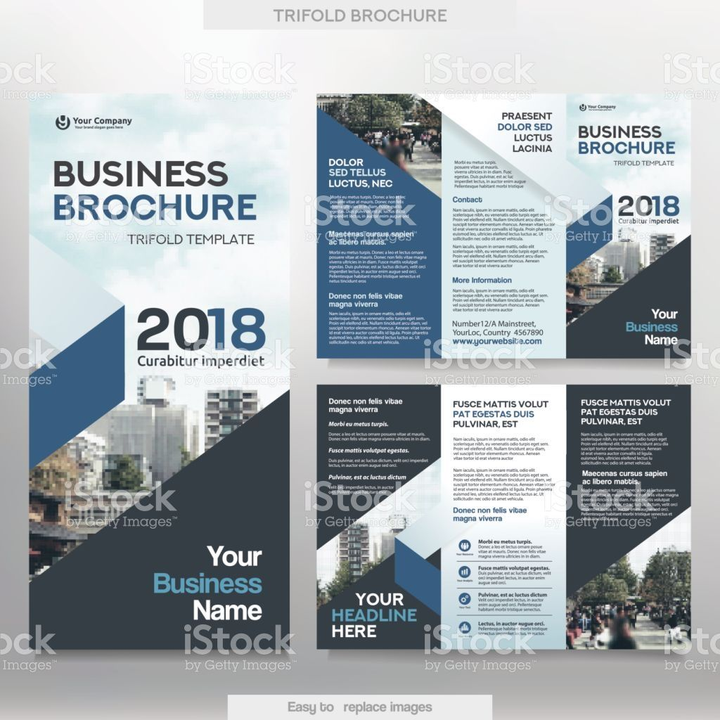Business Brochure Template in Tri Fold Layout. Corporate Design ...